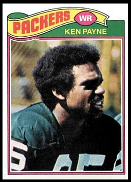 Ken Payne 1977 Topps football card
