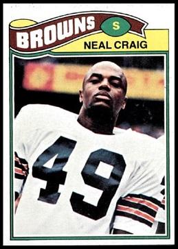Neal Craig 1977 Topps football card