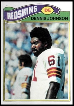Dennis Johnson 1977 Topps football card