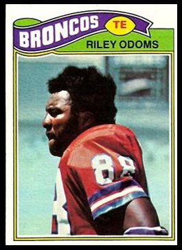 Riley Odoms 1977 Topps football card