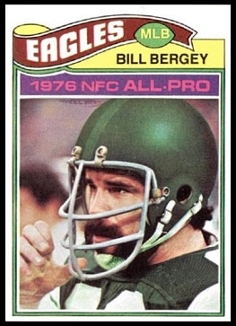 Bill Bergey 1977 Topps football card