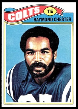 Raymond Chester 1977 Topps football card