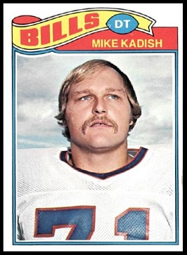 Mike Kadish 1977 Topps football card