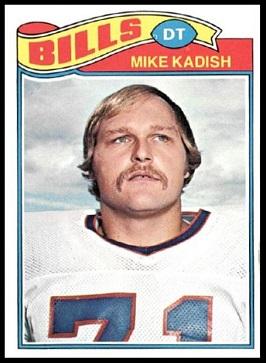 Mike Kadish 1977 Topps football card