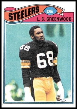 L.C. Greenwood 1977 Topps football card