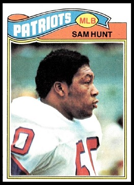 Sam Hunt 1977 Topps football card