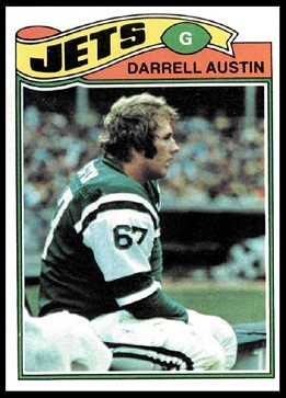 Darrell Austin 1977 Topps football card