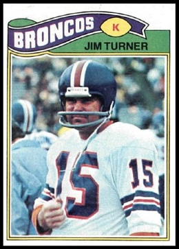 Jim Turner 1977 Topps football card