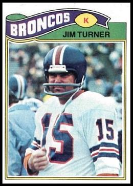 Jim Turner 1977 Topps football card