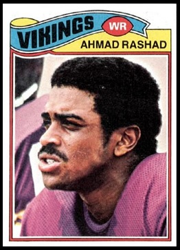 Ahmad Rashad 1977 Topps football card