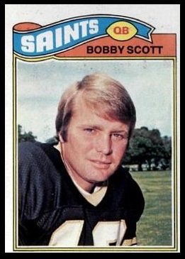 Bobby Scott 1977 Topps football card