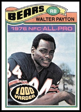 Walter Payton 1977 Topps football card