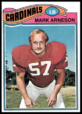 Mark Arneson 1977 Topps football card