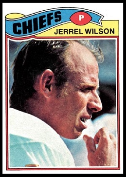 Jerrel Wilson 1977 Topps football card