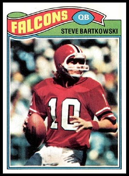 Steve Bartkowski 1977 Topps football card