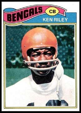 Ken Riley 1977 Topps football card