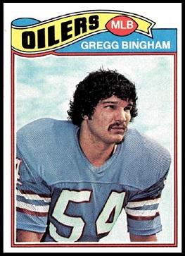 Gregg Bingham 1977 Topps football card