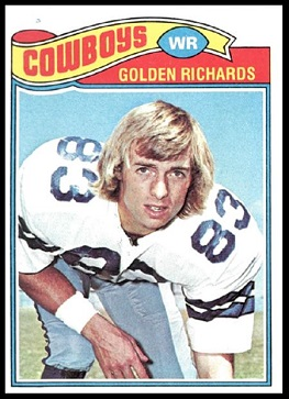 Golden Richards 1977 Topps football card