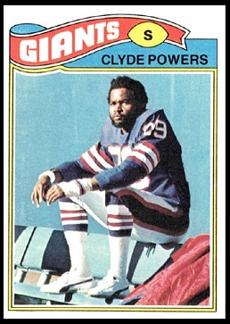 Clyde Powers 1977 Topps football card