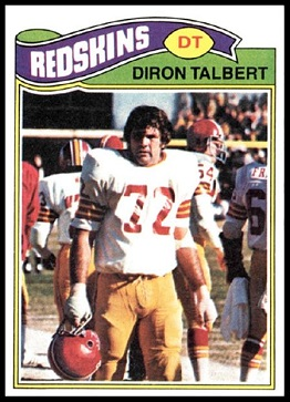 Diron Talbert 1977 Topps football card