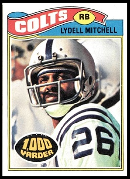 Lydell Mitchell 1977 Topps football card