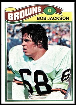 Bob Jackson 1977 Topps football card