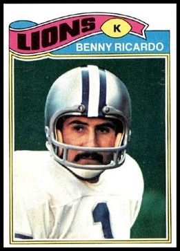 Benny Ricardo 1977 Topps football card