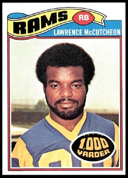 Lawrence McCutcheon 1977 Topps football card