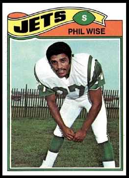 Phil Wise 1977 Topps football card