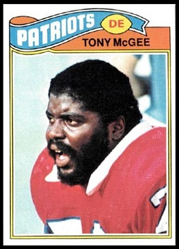 Tony McGee 1977 Topps football card