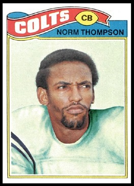 Norm Thompson 1977 Topps football card