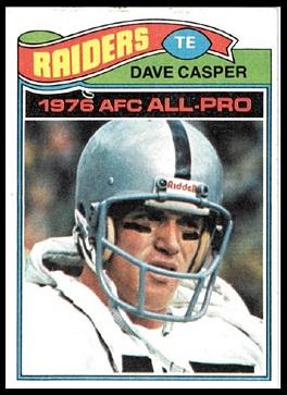 Dave Casper 1977 Topps football card