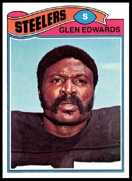 Glen Edwards 1977 Topps football card