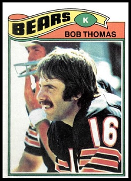Bob Thomas 1977 Topps football card