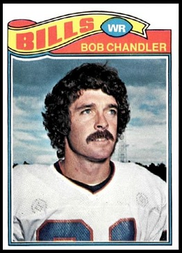 Bob Chandler 1977 Topps football card