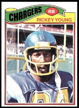 Rickey Young 1977 Topps football card