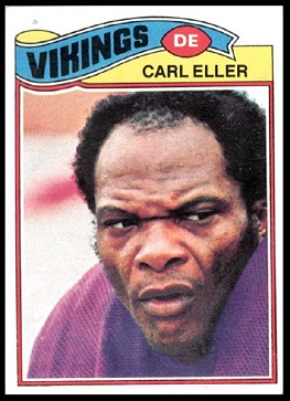 Carl Eller 1977 Topps football card