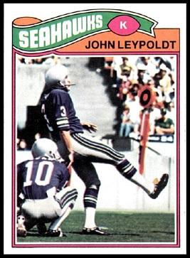 John Leypoldt 1977 Topps football card