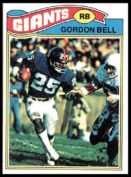 Gordon Bell 1977 Topps football card