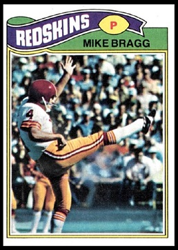 Mike Bragg 1977 Topps football card