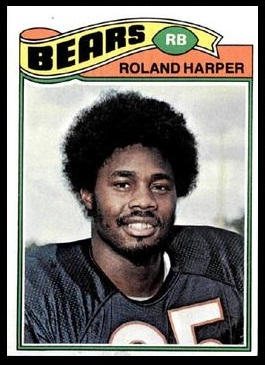 Roland Harper 1977 Topps football card