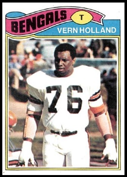 Vern Holland 1977 Topps football card
