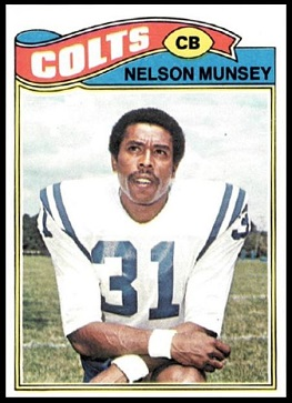 Nelson Munsey 1977 Topps football card