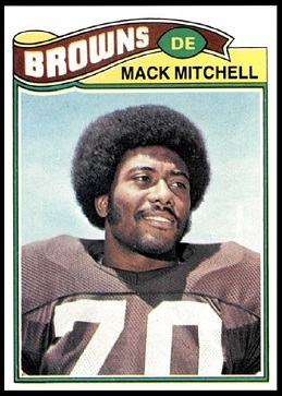Mack Mitchell 1977 Topps football card
