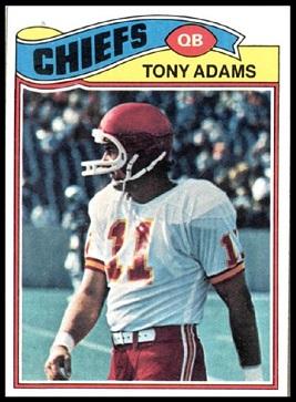 Tony Adams 1977 Topps football card