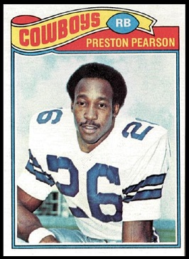Preston Pearson 1977 Topps football card
