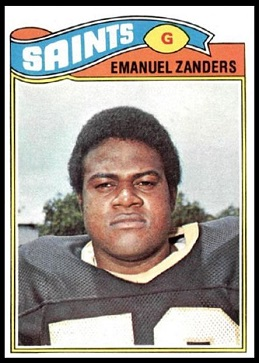 Emanuel Zanders 1977 Topps football card