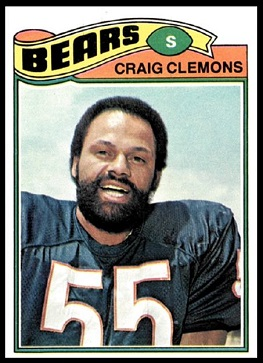 Craig Clemons 1977 Topps football card