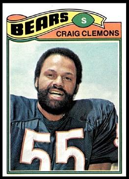 Craig Clemons 1977 Topps football card