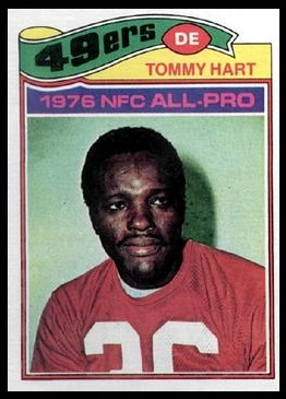 Tommy Hart 1977 Topps football card